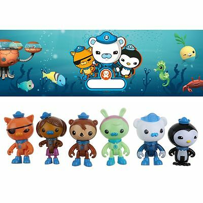 6PCS/Set Octonauts Octo Crew Mini Figurines Barnacles Peso Kwazii Shellington