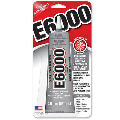E6000 Craft Glue Resins Metals Crystals Dolls Bails 59.1ML INBUILT TIP  USA Made
