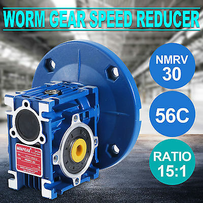 VEVOR Model NMRV030 Worm Gear Speed Reducer Gearbox 15:1 Factory Direct Top