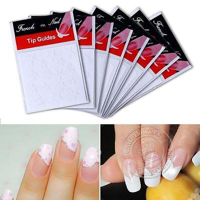 Manicure Nail Art French Tips Guides Stickers tapes DIY polish guides Stencil UK