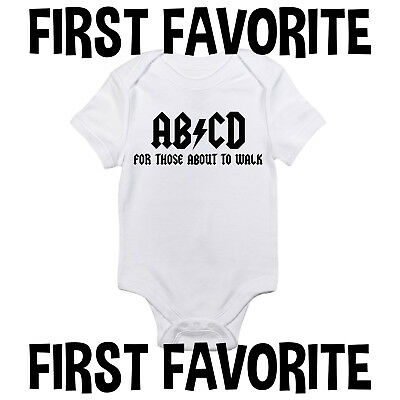 ABCD Baby Onesie Shirt Bodysuit Infant Shower Gift Music Funny Unisex Gerber