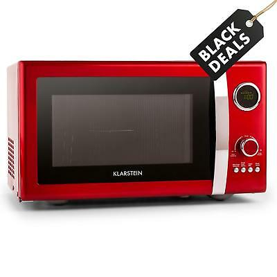 Energy Saving Stainless Steel Stylish Microwave Modern Digital 800W 23L - Red
