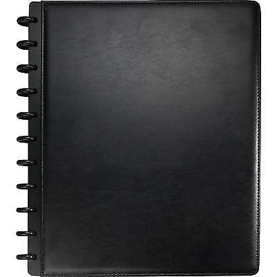 "Staples Arc Customizable Leather Notebook System, Black, 9-1/2"" x 11-1/2"""
