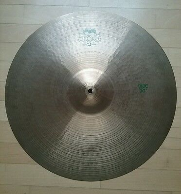 """Vintage PAISTE Ride 20"""" 505 Green, Made in Germany"""