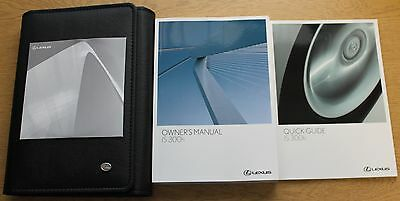 LEXUS IS 300h HANDBOOK OWNERS MANUAL WALLET 2013-2015 PACK 2873 !