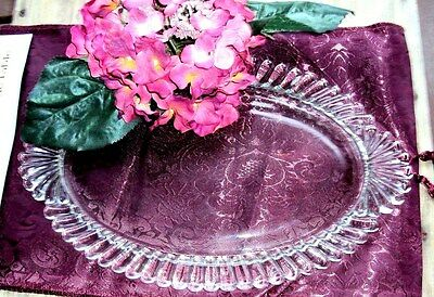 Vintage/ Mid Century Heavy Clear Glass Vanity Tray--Perfume--Cologne--Near Mint-