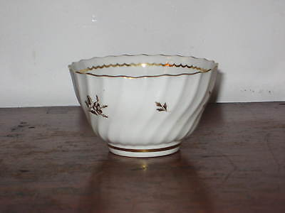 Small English Bowl Circ 1800S Wrythen Decoration With Gilding
