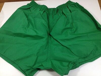 "Vintage 1980s Eagle PE Football SHORTS 24"" 26"" Boys Crisp Nylon Green Glanz Star"
