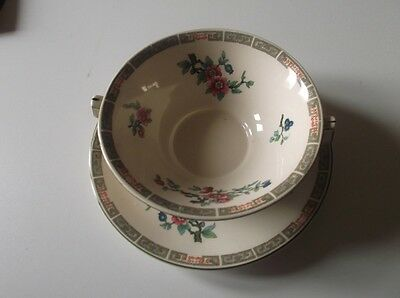 "John Maddock & Sons ""royal Ivory""soup Bowl And Plate"
