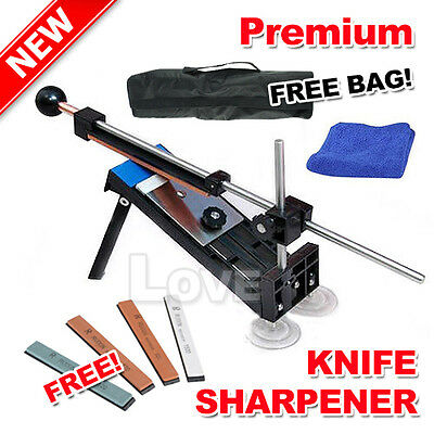 OZ Professional Knife Sharpener Sharpening System Kitchen Fix-angle With 4 Stone