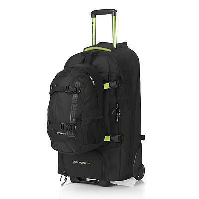 NEW Caribee Fast Track 75 Black Trolley Backpack