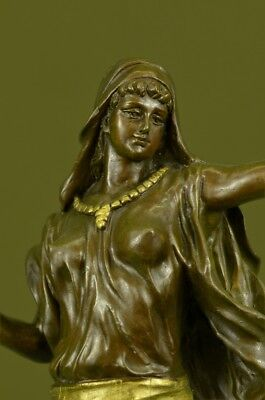 Stunning Deco Signed Aldo Vitaleh Dancer Pure Genuine Bronze Statue Deal Gift