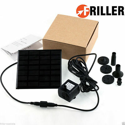 Fountain Solar Panel Powered Water Pump Garden Pond kit Submersible Feature