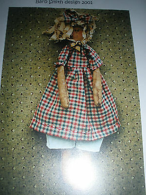 Amber Cloth Doll Pattern & Cinnamon Santa by Woodcutter's Daughter