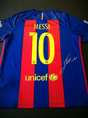 2016/17 Lionel messi signed F.C. Barcelona jersey shirt with COA.