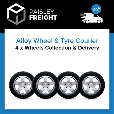 4 x Alloy Wheels & Tyres Courier - Collection & Delivery Service