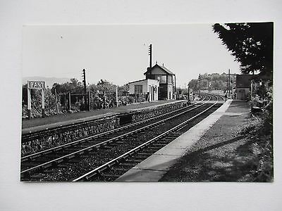 Pant Railway Station , Llanymynech , Oswestry - Plain Back Pc Size Photo