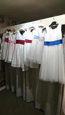 Job lot 7 x Excellent Bridesmaids/Flowergirls dresses in Mixed Sizes Age 2 - 8