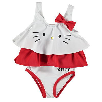 New Baby Girl Official Hello Kitty Swimsuit Swimming Costume
