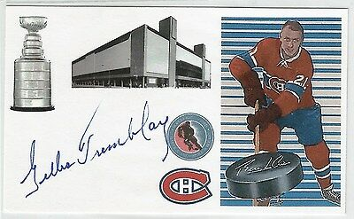 GILLES TREMBLAY Autograph Index Card NHL Hockey Player Signature Auto