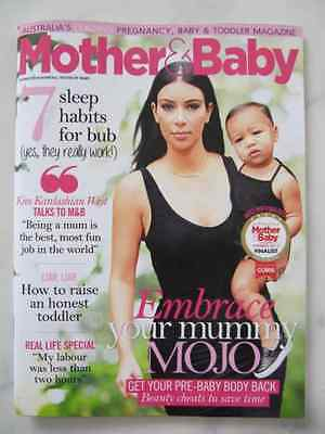 Mother & Baby Magazine Aug/sept 2015 With Kim Kardashian West Brand New Exc Cond