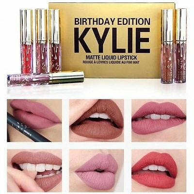 Kylie Jenner Birthday Collection 6 Mini Lipstick Lip Gloss Set Limited Edition