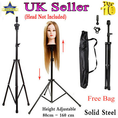 1pcs Adjustable Tripod Stand For Hairdressing Training Head Mannequin + Bag UK S