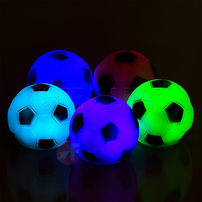 7 Colours Changing LED Soccer Ball Baby Kid Mood Lamp Color Night Light Children