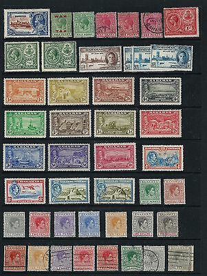 BAHAMAS, 2 STOCK PAGE SIDES MH and USED