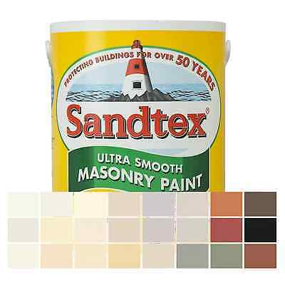 Sandtex Masonry Paint Smooth Finish For Walls & Houses 5 Litre