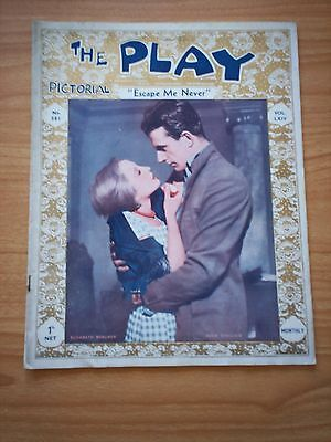 THE PLAY PICTORIAL Issue 381 Escape Me Never - Elisabeth Bergner, Hugh Sinclair