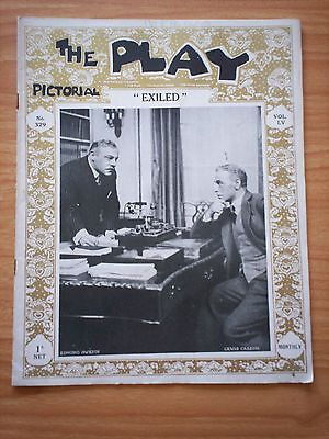 THE PLAY PICTORIAL Issue 329 Exiled - Edmund Gwenn, Lewis Casson