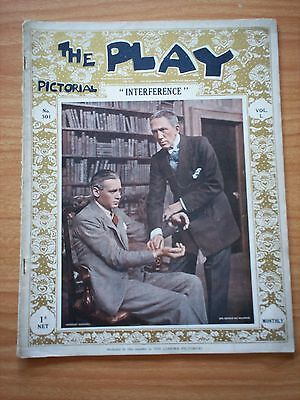 THE PLAY PICTORIAL Issue 301 Interference - Herbert Marshall, Gerald du Maurier