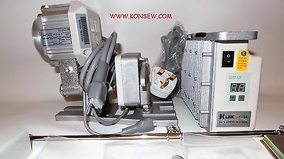 New servo, silent motor with needle position for industrial sewing machines.