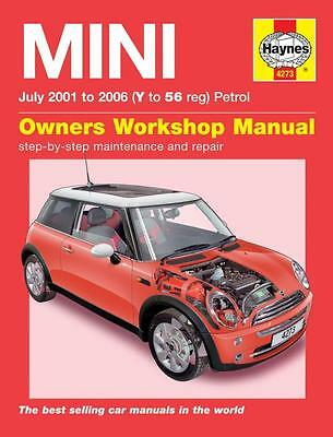 Haynes Manual Mini One Cooper S 2001-2006 Hatchback Supercharged Workshop Repair