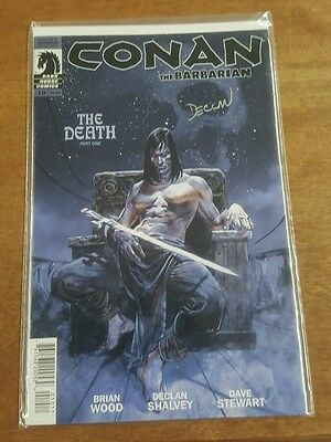 DARK HORSE COMICS CONAN THE BARBARIAN # 10 SIGNED BY DECLAN SHALVEY with COA