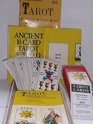 1st Ed Vintage 1970 78 Tarot Cards 1JJ Muller Swiss Made Complete Game Boxed