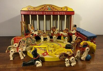 Vintage Fisher Price #900 Circus Wagon 1960's