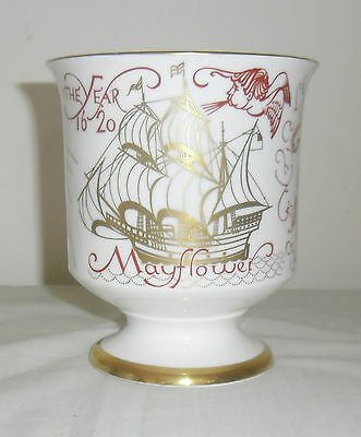 Coalport Commemorative Goblet : 350Th Year Mayflower Pilgrims : 1970