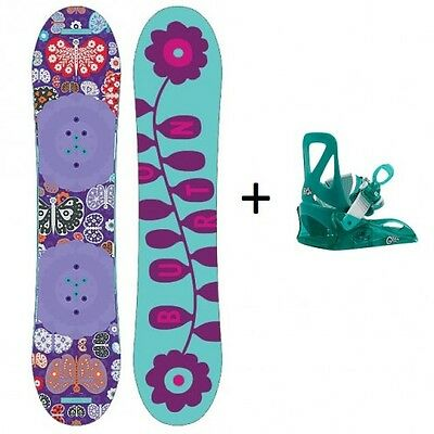 Pack Snowboard Junior Burton Chicklet + Fix Grom