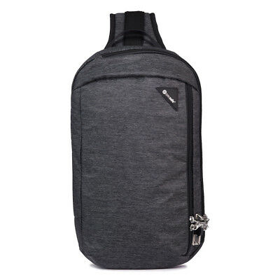 Pacsafe Vibe 325 - 10 Litre Cross Body Pack - iPad/Tablet Compatible - Grey Camo