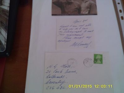 Alf Ramsey Hand Written  Signed Letter + Envelope