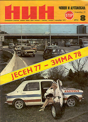 ES, Vintage Yugoslavia Magazine, NIN - Men and Auto, 1977, RARE!