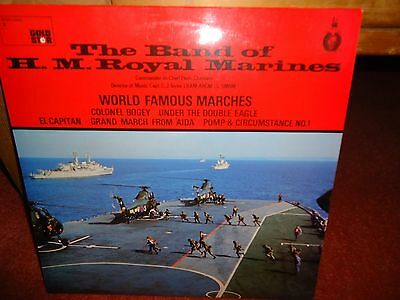 World Famous Marches The Band Of H.M. Royal Marines LP