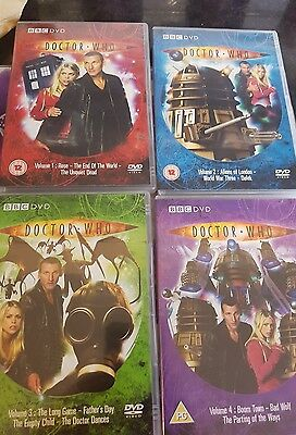 Dr who dvd volumes 1-4