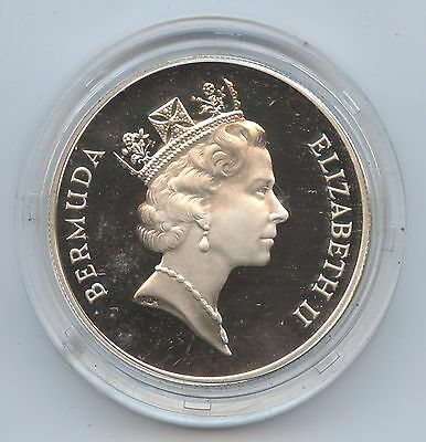 Bermuda 1987 $1 Silver Proof (#745) Commemorative. No Box In Cap with Certif. Ca