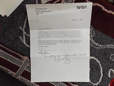 Hand Signed Letter By Astronaut Thomas Tom Jones On Nasa Paper - Dated 1990