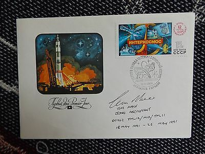 Hand Signed Russian Envelope By Astronaut Tim Mace - Juno 1991