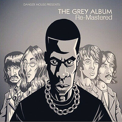 """Danger Mouse """" The Grey Album Lp """" ** Grey Marbled Vinyl Re-Issue Remastered"""