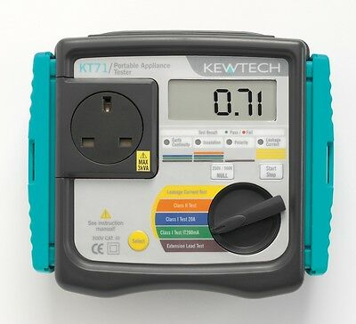 Kewtech KT71 PAT Tester with Labels